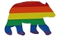 Rainbow Bear Cling Sticker