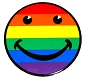 Rainbow Smiley Cling Sticker