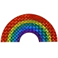 Rainbow Arch Reflective Sticker