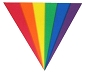 Rainbow Triangle Fan Cling Sticker