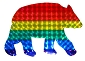 Rainbow Bear Reflective Sticker