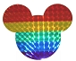 Rainbow Mouse Reflective Sticker