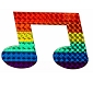 Rainbow Music Note Reflective Sticker