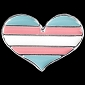 Trans Pride Heart Lapel Pin