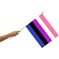 Genderfluid Flag on a Stick