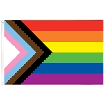 Progress Pride Flag 3ft  x 5ft Printed Polyester