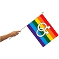 Gay 12'' x 18'' Flag on a Stick (Male Symbol)