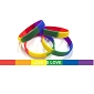 Rainbow LOVE IS LOVE  Wristband