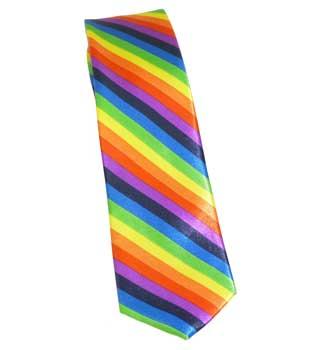 Rainbow Necktie (diagonal stripe)