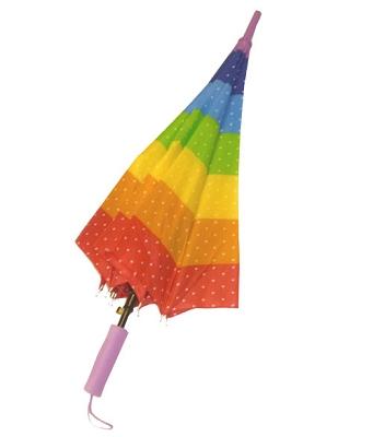 Rainbow Stripes with Stars Umbrella
