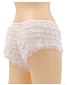 Ruffle Hot Pants - White