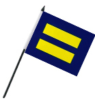 Equality 4'' x 6'' Flag on a Stick