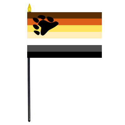 Bear Pride Flag on Stick