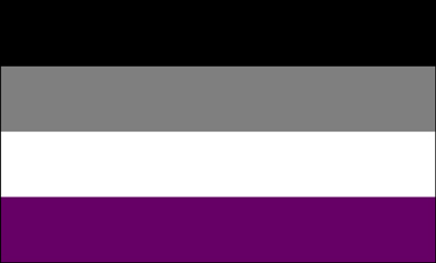 Asexual Flag 3ft x 5ft Printed Polyester