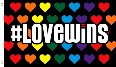 Love Wins Flag 3ft x 5ft Printed Polyester