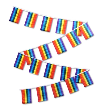 Rainbow String Flags (30ft) 1 set of 20