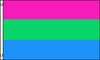 Polysexual Flag 3ft x 5ft Printed Polyester