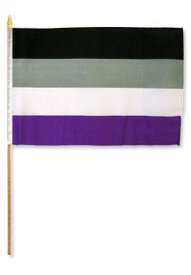 ASexual 12'' x 18'' Flag on a Stick