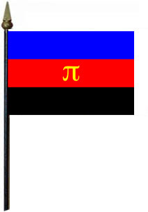 Polyamorous 4'' x 6'' Flag on a Stick