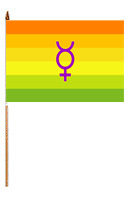 Hermaphrodite 12'' x 18'' Flag on a Stick