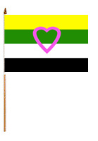 Skoliosexual 12'' x 18'' Flag on a Stick