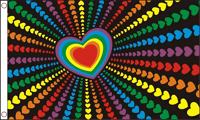 Rainbow Love Flag 2ft x 3ft Printed Polyester
