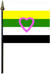 Skoliosexual 4'' x 6'' Flag on a Stick