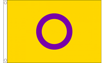 Intersex Flag (yellow/purple) 3ft x 5ft  Printed Polyester