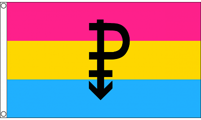 Pansexual Symbol 3ft x 5ft  Printed Polyester