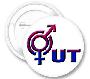 OUT Bi Pride Button
