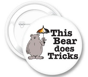 This Bear Does Tricks Button