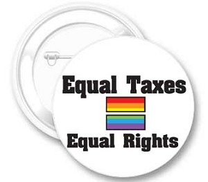 Equal Taxes Equal Rights Button