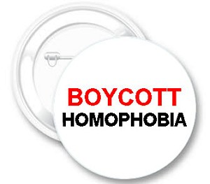 Boycott Homophobia Button