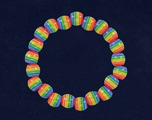 Rainbow Striped Bead Bracelet