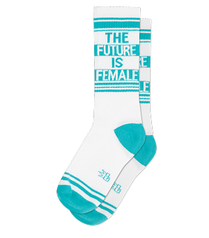 THE FUTURE IS FEMALE Ribbed Gym Sock