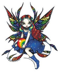 Fairy with Rainbow Crystal Ball Sticker