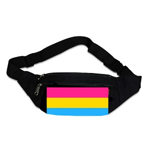 Pansexual Pride Stripe Canvas Fanny Pack