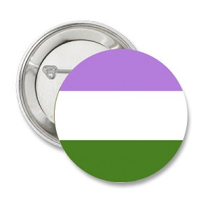 GenderQueer Pride Button