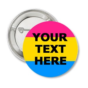 Pansexual (custom text) Button