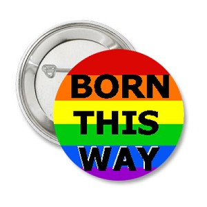 Rainbow Born This Way Button