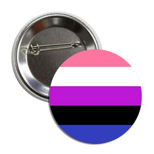 GenderFluid Pride Button