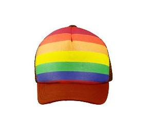 Rainbow Truckers Cap Red