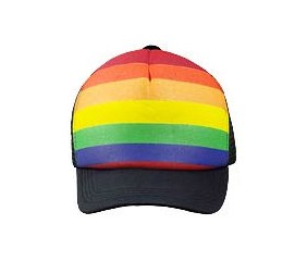 Rainbow Blue Truckers Cap
