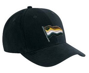 Bear Pride Wavy Flag Embroidered Black Cap / Hat
