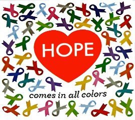 Hope Comes In All Colors Ribbon Stickers (250 stickers)