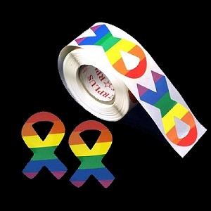Rainbow Ribbons Stickers (250 stickers)