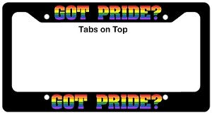 Got Pride? License Plate Frame
