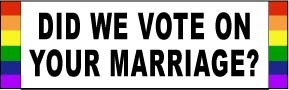 Did We Vote Bumper Sticker