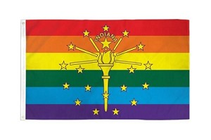 Rainbow Indiana Flag 3ft x 5ft Printed Polyester