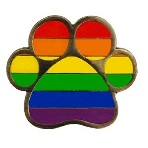 Rainbow Paw Lapel Pin